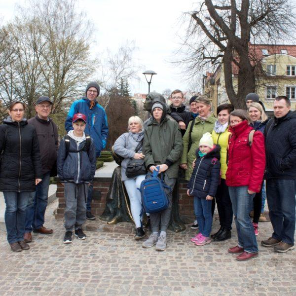 Pod pomnikiem Kopernika w Olsztynie 2019