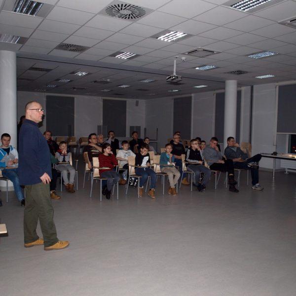 Pokaz meteorytów oraz wykład Wojciecha Szolca z 2016